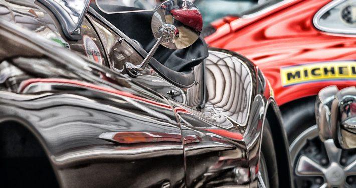 glänzendes Oldtimer-Cabrio