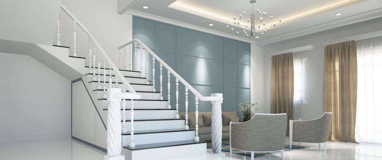 lackierte Treppen und Schränke