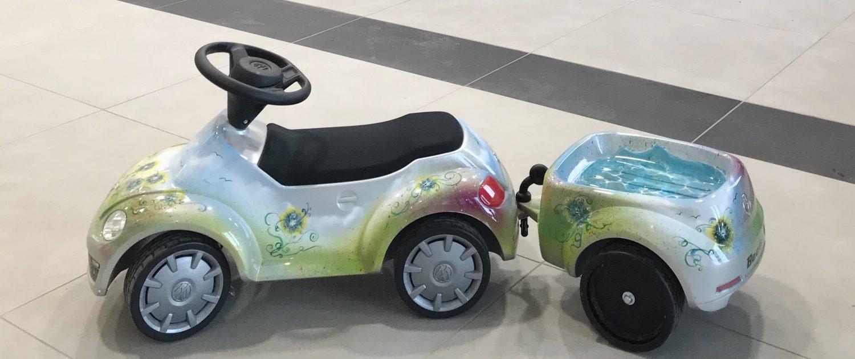 wir lackieren auch ganz kleine Autos!